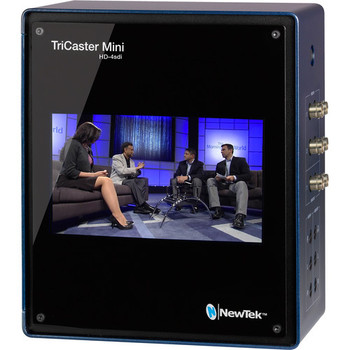 Newtek TriCaster Mini Advanced HD-4 SDI;  4-HD-SDI Inputs, 8 NDI, Switcher, Graphics, Streaming System