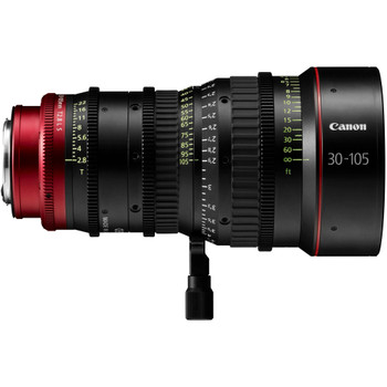 Canon PL-Mount CN-E 30-105mm f/2.8 L SP/MOD Digital Cinema Zoom Lens with EF-Mount Conversion Parts