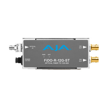 AJA FiDO-R-12G-ST: 1-Channel Single Mode ST Fiber to 12G-SDI Receiver