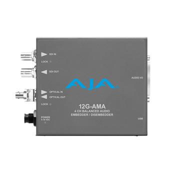 AJA 12G-AMA 12G-SDI, 4-Channel Balanced Audio Embedder/Disembedder with Fiber Options