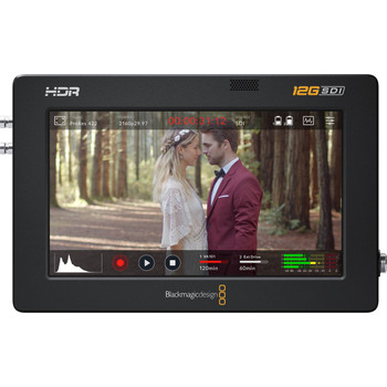 "Blackmagic Design HYPERD/AVIDA12/5HDR Video Assist 5"" 12G-SDI/HDMI HDR Recording Monitor"