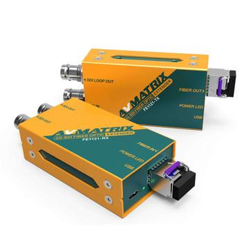 AV Matrix 3G-SDI Fiber Optic Extender Transmitter & Receiver Set