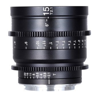 Venus Optics VE1521RFC Laowa 15mm T2.1 Zero-D Cine Lens (Canon RF, Feet)