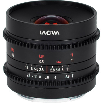 Venus Optics VE929MFTC Laowa 9mm T2.9 Zero-D Cine Lens (MFT Mount, Feet)