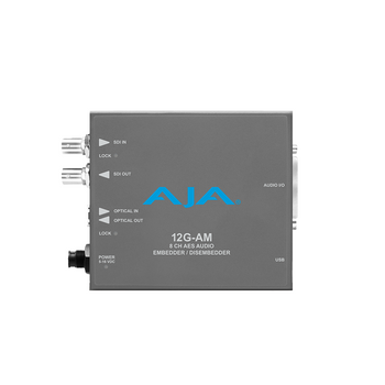 AJA 12G-AM 8-Channel 12G-SDI AES Audio Embedder/Disembedder with Fiber Options