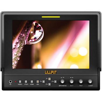 "Lilliput Electronics 663/S2 7"" LCD On-Camera 3G-SDI / HDMI Monitor"