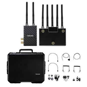 Teradek 10-2200-G Bolt 4K LT 750 3G-SDI/HDMI Wireless RX/TX Deluxe Kit (Gold Mount)