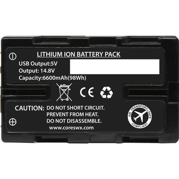 Core SWX NANO-U98 14.8V Battery with D-Tap for Select Sony Camcorders
