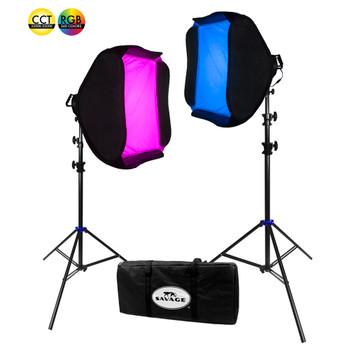 Savage 700 Watt RGB Portrait LED Light Kit