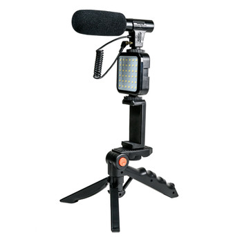 Savage MIC-VLOGGER-KIT Mobile Vlogging Kit with Microphone, Light & Adaptable Stand