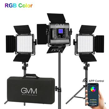 GVM 800D RGB LED Studio 3-Video Light Kit