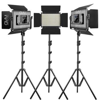 GVM RGB LED Studio Video Bi-Color Soft 1000D 3-Light Panel Kit