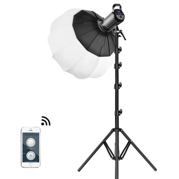 GVM G100W Bi-Color LED Video Light Kit with Lantern Softbox