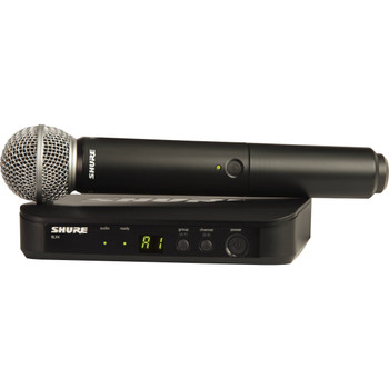 Shure BLX24/SM58 Wireless Handheld Microphone System with SM58 Capsule (H11: 572 to 596 MHz)