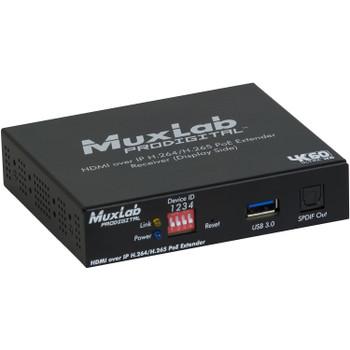 MuxLab HDMI over IP H.264/H.265 PoE Receiver