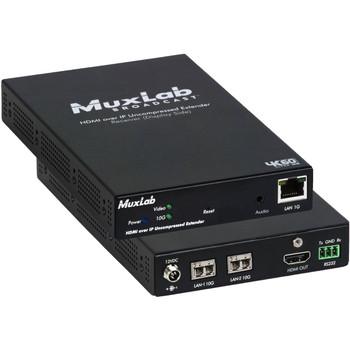 MuxLab 4K HDMI/ST 2110 over IP Uncompressed Multimode Fiber Receiver