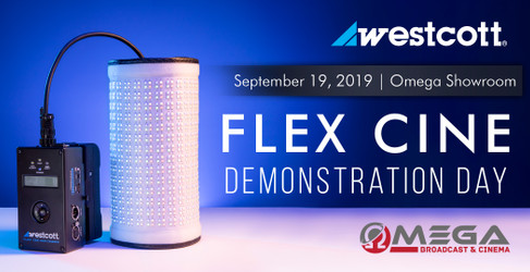 Westcott FLEX CINE Demonstration Day at Omega!