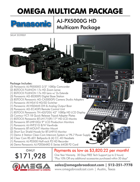 Panasonic AJ-PX5000G HD Multi-Camera Package
