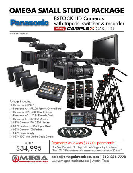BSTOCK Panasonic AJ-PX270 Multi-Cam Studio Package
