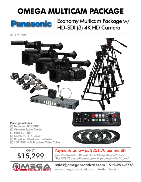 Panasonic Economy Multicam Package with HD-SDI
