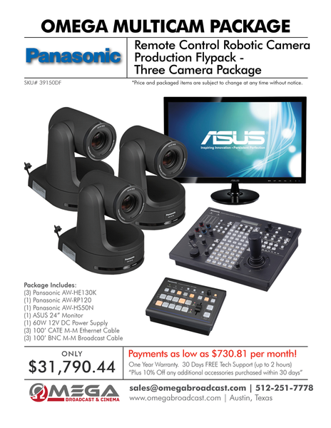 Panasonic Remote Control Robotic Camera Production Flypack