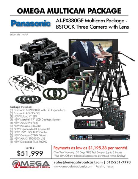 Panasonic AJ-PX380GF Multicam Package