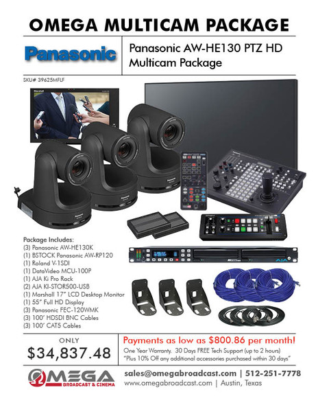 Panasonic AW-HE130 PTZ HD Multicam Package