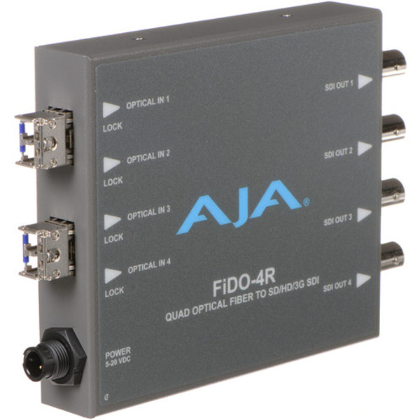 AJA FiDO-4R FiDO Quad-Channel LC Fiber to 3G-SDI Mini Converter
