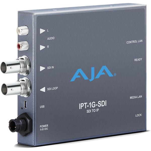 AJA IPT-1G-SDI 3G-SDI Video and Audio to JPEG 2000 IP Converter
