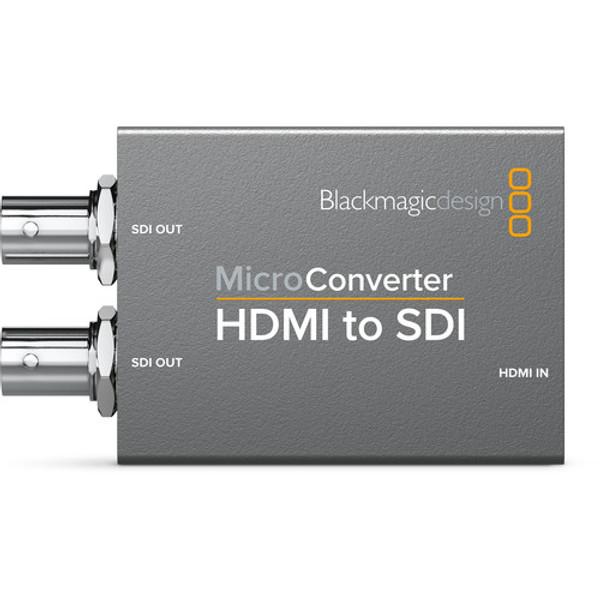 Blackmagic Design CONVCMIC/HS/WPSU Micro Converter HDMI to SDI with Power Supply