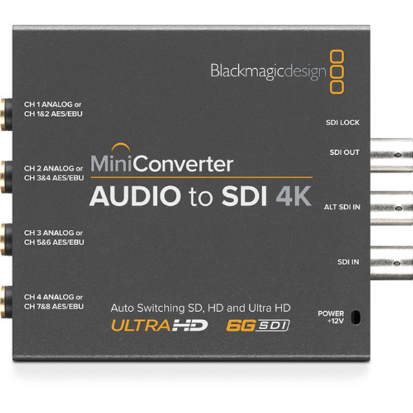 Blackmagic Design CONVMCAUDS4K Mini Converter Audio to SDI 4K