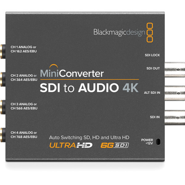 Blackmagic Design CONVMCSAUD4K Mini Converter SDI to Audio 4K
