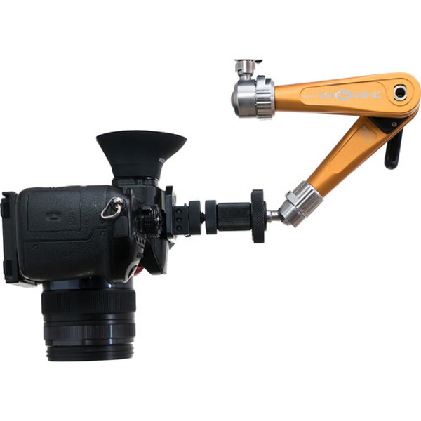 "Bright Tangerine B3000.1001 Titan Support Arm with Pivot Head 3/8"" to 1/4"" Mount (Slate Black)"
