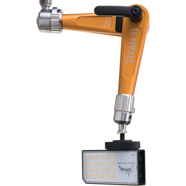 "Bright Tangerine B3000.1002 Titan Support Arm with Pivot Head 3/8"" to 1/4"" Mount (Orange)"