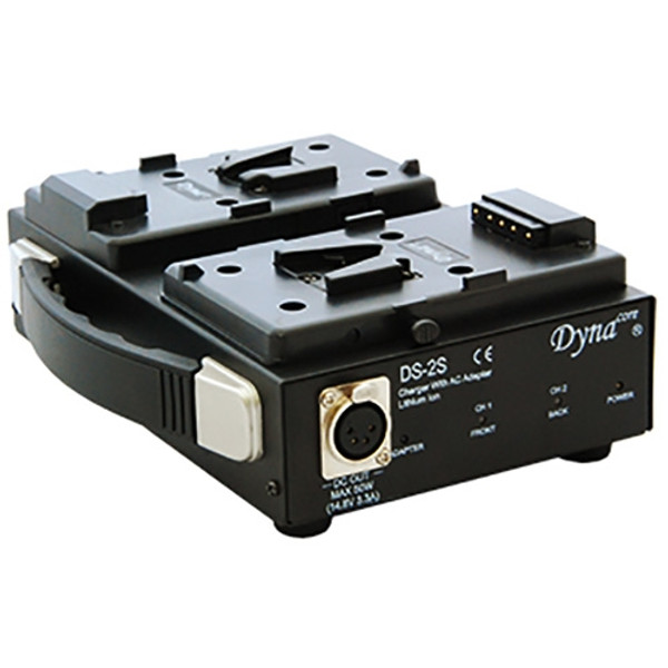 Dynacore DS-2S V-Mount Simultaneous Dual Charger with Built-In AC Adapter