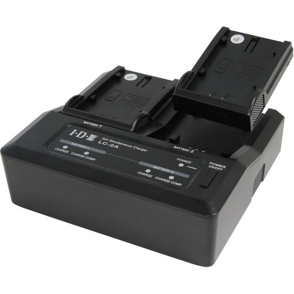 IDX LC-2A Two-Channel Charger for 7.4V Canon, Panasonic, and Sony Batteries