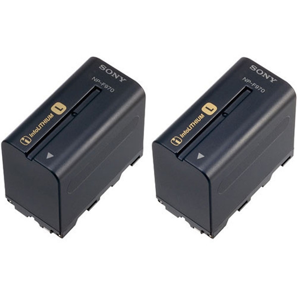 Sony 2NP-F970/B L-series Info-Lithium Battery 2 Pack (7.2v, 6300mAh)