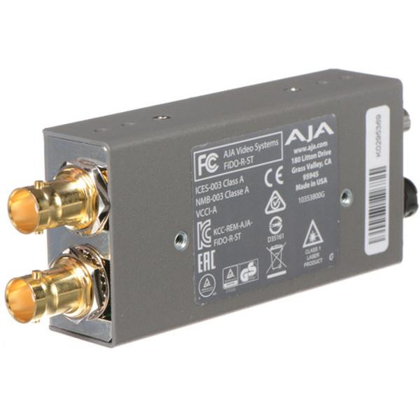 AJA FiDO-R-ST Single-Channel ST Fiber to 3G-SDI Mini Converter