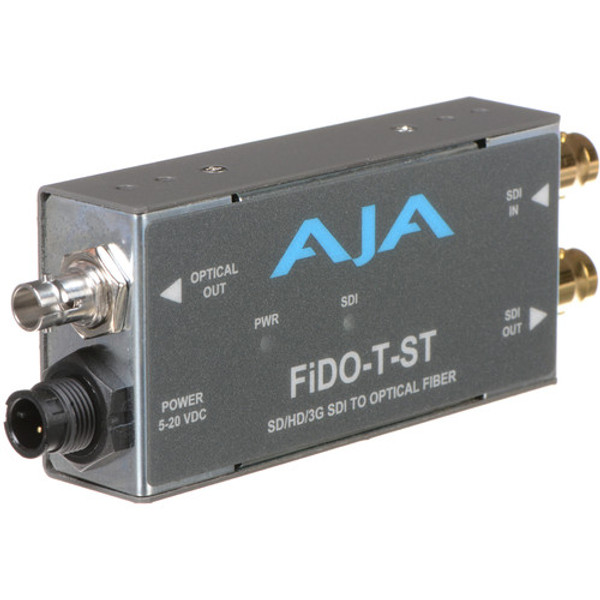 AJA FiDO-T-ST Single-Channel 3G-SDI to ST Fiber Mini Converter