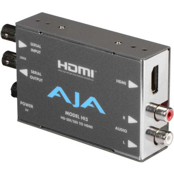 AJA HI5 HD/SD-SDI to HDMI Video and Audio Converter with DWP