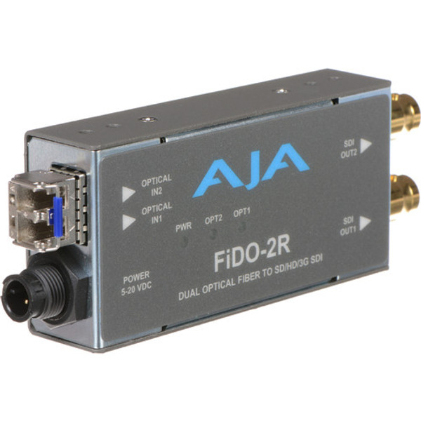 AJA FiDO-2R Dual-Channel LC Fiber to 3G-SDI Mini Converter