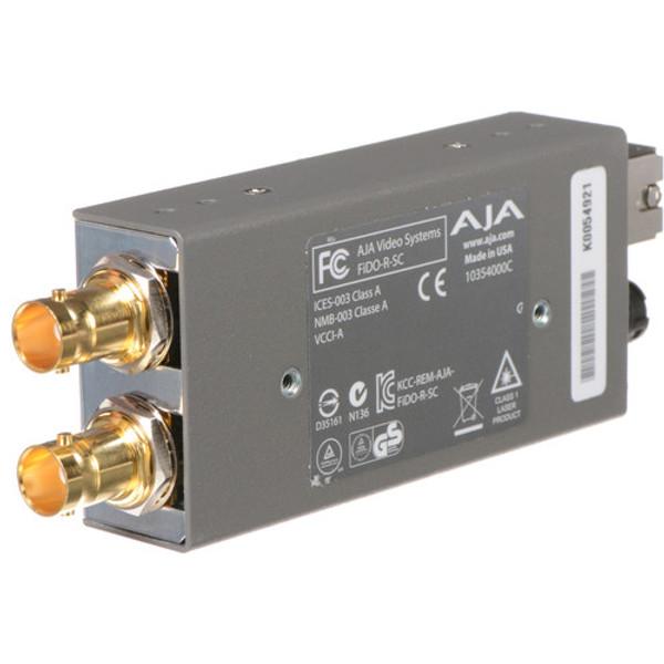 AJA FiDO-R-SC Single-Channel SC Fiber to 3G-SDI Mini Converter