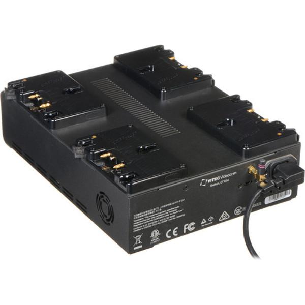 Anton Bauer 8475-0126 LP4 Quad Gold-Mount Battery Charger