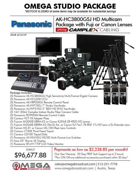 Panasonic AK-HC3800GSJ HD Multicam Package
