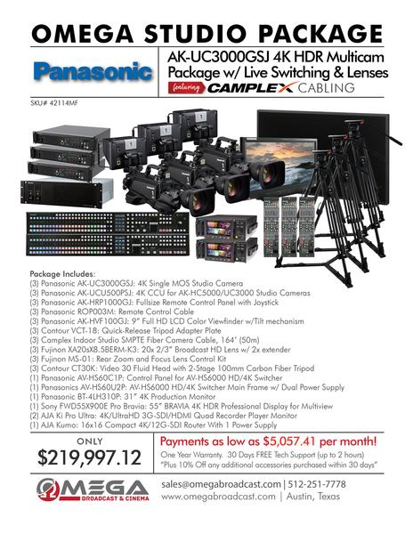 Panasonic AK-UC3000GSJ 4K HDR Multicam Package