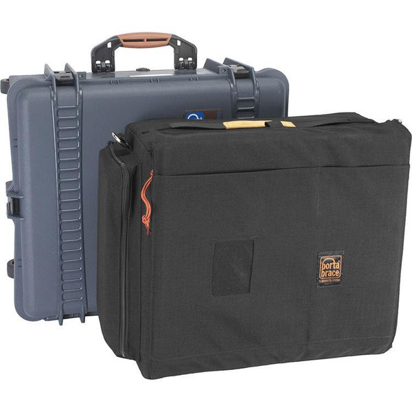 Bstock Porta Brace PB-2750E Wheeled Hard Case, Removable Soft Case Combo for Panasonic EVA1 (Blue)