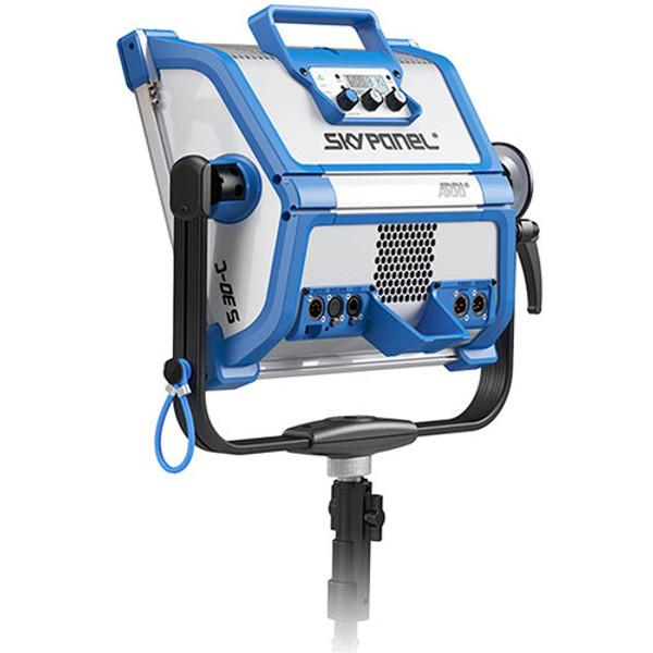 ARRI L0.0007721 SkyPanel S30-RP Tungsten LED Remote Phosphor Softlight (Blue/Silver, Bare Ends)