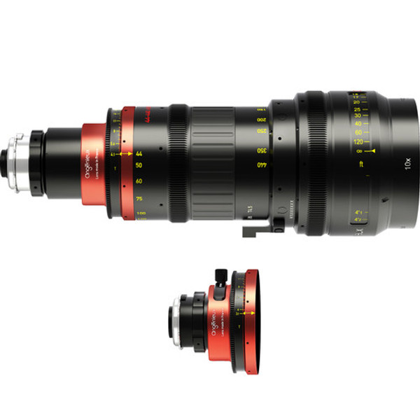 Angenieux ANO44440S Optimo Anamorphic 44-440mm Zoom Lens with Spherical Kit (PL, Feet)
