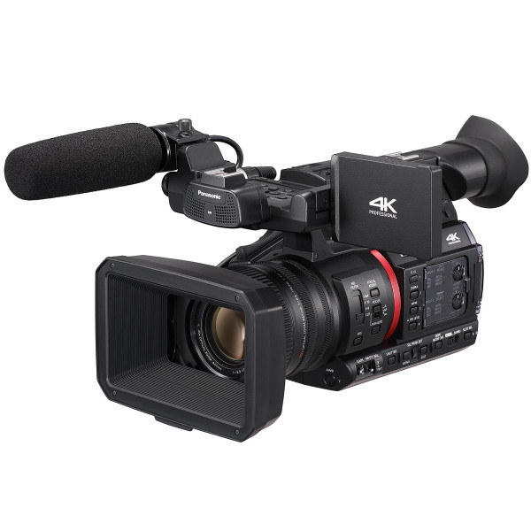 "Panasonic AG-CX350 High-End 1.0"" MOS 4K/HDR/10-bit Streaming Camcorder with 20x lens and NDI"