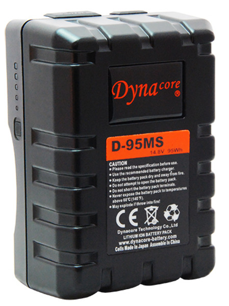 Dynacore D-95MS RUGGED Compact Low Profile V-Mount Li-ion Battery, (14.4V, 95Wh)